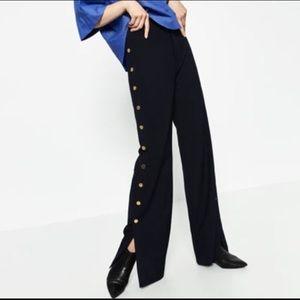 ZARA Woman Gold Button Trouser Pant